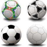 Bolas de futebol Fotos de Stock Royalty Free