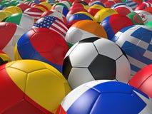 Bolas de futebol BG Foto de Stock