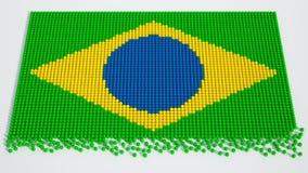 Bolas de futebol brasileiras do campeonato do mundo Fotografia de Stock