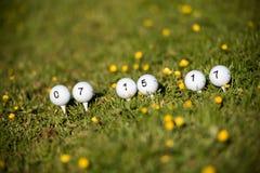 Bolas de golfe Imagens de Stock