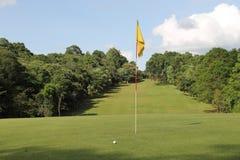 Bolas de golfe no campo de golfe Imagem de Stock Royalty Free