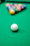 Bolas de juego de la piscina Fotografía de archivo
