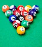 Bolas de juego de la piscina Imagenes de archivo