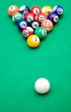 Bolas de juego de la piscina Foto de archivo libre de regalías