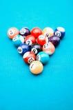 Bolas de juego de la piscina Fotografía de archivo libre de regalías