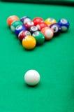 Bolas de juego de la piscina Fotos de archivo libres de regalías