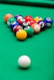 Bolas de juego de la piscina Imágenes de archivo libres de regalías