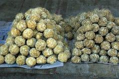 Bolas de la azúcar de savia de palmera Imagen de archivo