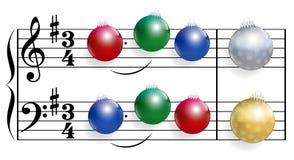 Bolas de la canción de la Navidad Fotografía de archivo