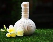 Bolas de la compresa del masaje del balneario Fotografía de archivo libre de regalías