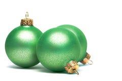 Bolas de la decoración de la Navidad Foto de archivo