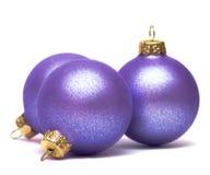 Bolas de la decoración de la Navidad Imagenes de archivo