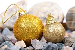 Bolas de la decoración de la Navidad Foto de archivo libre de regalías
