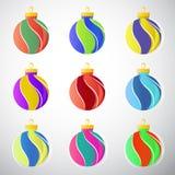 Bolas de la decoración de la Navidad stock de ilustración