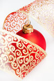 Bolas de la decoración de la Navidad Fotos de archivo