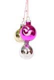 Bolas de la decoración de la Navidad Fotografía de archivo libre de regalías