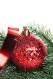 Bolas de la decoración de la Navidad Imagen de archivo libre de regalías