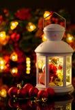 Bolas de la decoración de la Navidad y del Año Nuevo, malla, candel en blac fotos de archivo libres de regalías