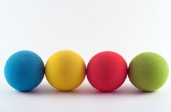 Bolas de la espuma Fotografía de archivo