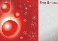 Bolas de la Feliz Navidad Foto de archivo
