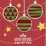 Bolas de la Feliz Navidad Fotografía de archivo libre de regalías