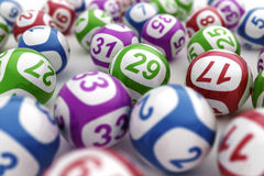 Bolas de la lotería Imágenes de archivo libres de regalías