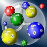 Bolas de la lotería Foto de archivo libre de regalías