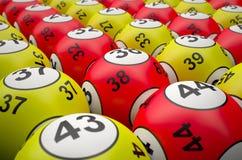 Bolas de la lotería Fotos de archivo