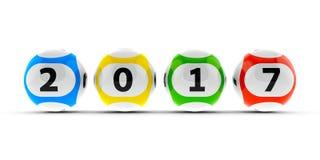 Bolas de la lotería 2017 #2 Fotos de archivo libres de regalías