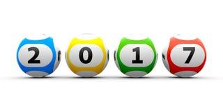 Bolas 2017 de la lotería Foto de archivo libre de regalías