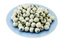 Bolas de la lotería Fotos de archivo libres de regalías