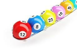 Bolas de la lotería del bingo ilustración del vector