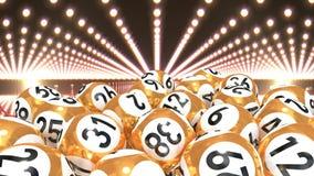 Bolas de la lotería en el vídeo de la alfombra roja metrajes