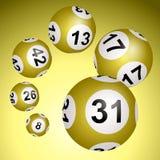 Bolas de la loteria en un fondo blanco ilustración del vector