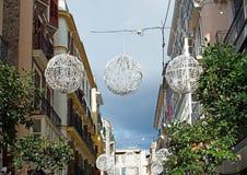 bolas de la luz de la Navidad Foto de archivo libre de regalías