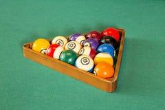 Bolas de la mesa de billar Fotografía de archivo libre de regalías