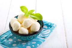 Bolas de la mozzarella Imagen de archivo libre de regalías