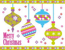 Bolas de la Navidad Fotos de archivo libres de regalías