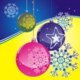 Bolas de la Navidad Imagen de archivo libre de regalías