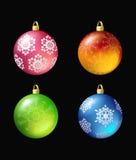 Bolas de la Navidad. Fotografía de archivo