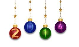 Bolas 2014 de la Navidad Imágenes de archivo libres de regalías
