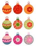 Bolas de la Navidad aisladas en el fondo blanco Foto de archivo libre de regalías