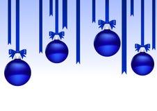 Bolas de la Navidad azules Imágenes de archivo libres de regalías