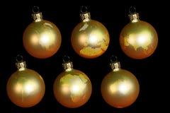 Bolas de la Navidad con tierra Foto de archivo libre de regalías