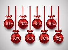 Bolas de la Navidad de la venta stock de ilustración