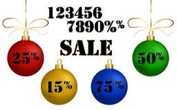Bolas de la Navidad de la venta Fotos de archivo