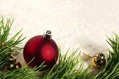 Bolas de la Navidad del Año Nuevo Fotografía de archivo