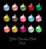 Bolas de la Navidad del brillo Foto de archivo libre de regalías