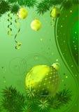 Bolas de la Navidad del oro ilustración del vector