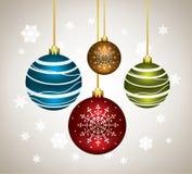 bolas de la Navidad del vector stock de ilustración